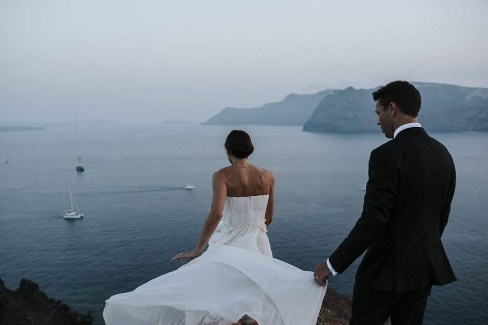 Santorini Elopement Photographer based in Australia and available worldwide.