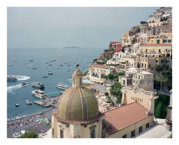 Positano Amalfi coast, medium format film photograph.