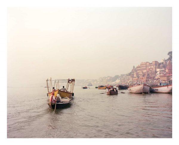 Sunrise on the Ganges fine art print, Varanasi, India.