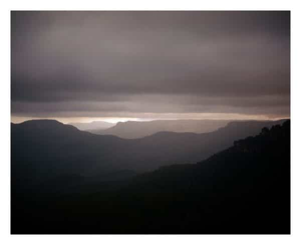 Skyscape #2 Blue Mountains fine art print by Damien Milan.